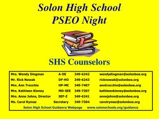 Solon High School PSEO  Night