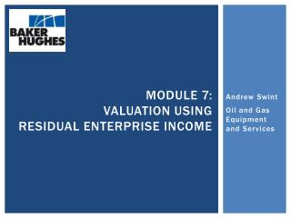 Module  7: Valuation using Residual Enterprise Income