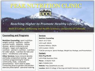 Counseling and Programs