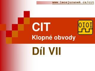 CIT Klopné obvody