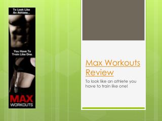 My Personal Max Workouts Review
