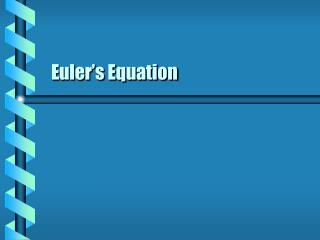 Euler s Equation