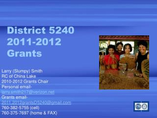District 5240 2011-2012 Grants