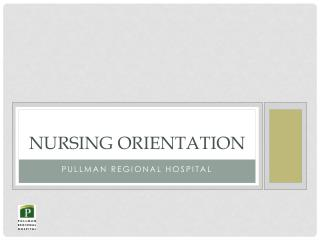 Nursing Orientation