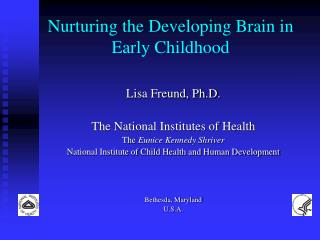 Nurturing the Developing Brain in Early Childhood