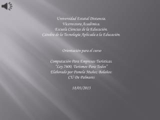 Universidad  Estatal Distancia. Vicerrectora Académica. Escuela Ciencias de la Educación.