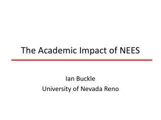 The Academic Impact of NEES