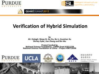 Verification of  Hybrid Simulation