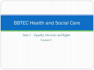 BBTEC Health and Social Care