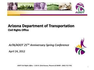 Arizona Department of Transportation Civil Rights Office