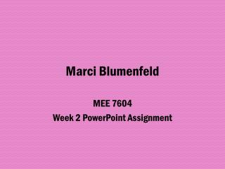 Marci  Blumenfeld
