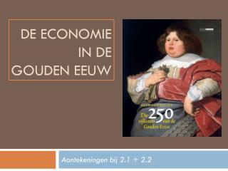 De economie in de  gouden eeuw