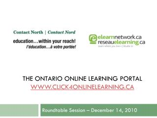 THE Ontario online learning portal click4onlinelearning
