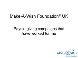 Payroll giving campaigns that have worked for me