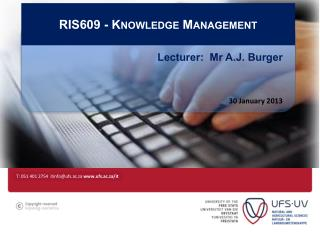 RIS609 -  Knowledge Management