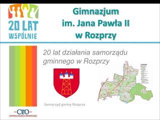 Gimnazjum  im. Jana Pawła II  w Rozprzy