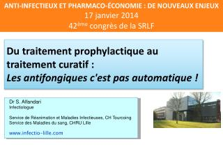 Du traitement prophylactique au traitement curatif :  Les antifongiques c'est pas automatique !