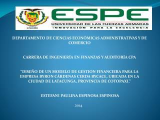 DEPARTAMENTO DE CIENCIAS ECONÓMICAS ADMINISTRATIVAS Y DE  COMERCIO
