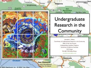 Undergraduate Research  in  the Community