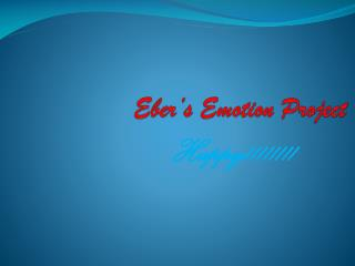 Eber's Emotion Project