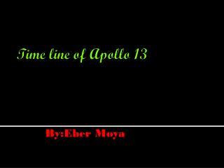 Time line of Apollo 13