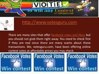 Buy online contest votes