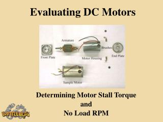 Evaluating DC Motors