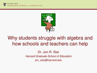 Why students struggle with algebra and how schools and teachers can help