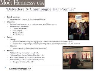 """Belvedere  & Champagne Bar Premier """