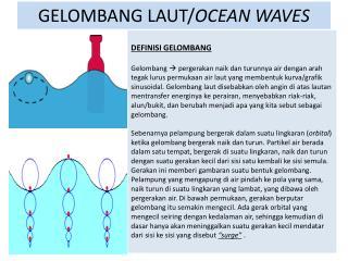 GELOMBANG LAUT/ OCEAN WAVES