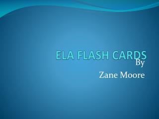 ELA FLASH CARDS