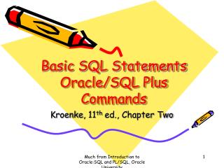 Basic SQL Statements Oracle/SQL Plus Commands