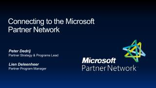 Connecting to the Microsoft  Partner Network