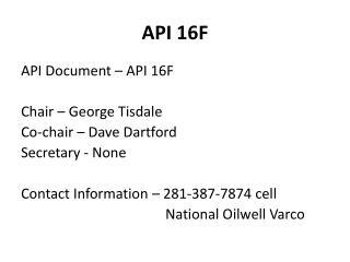 API 16F