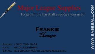 Major League Supplies
