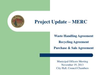 Project  Update – MERC