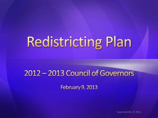 Redistricting Plan