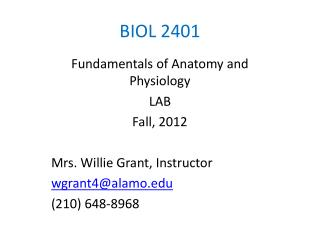BIOL 2401