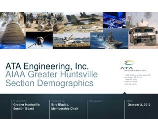 AIAA Greater Huntsville Section Demographics