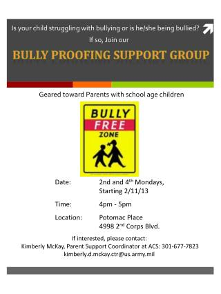 Is your child struggling with bullying or is he/she being bullied?