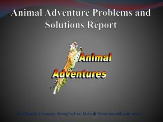 Animal Adventure Problems and Solutions Report