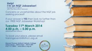 Help!  I'm an NQT Jobseeker! Samantha  Challinor with The Education Network