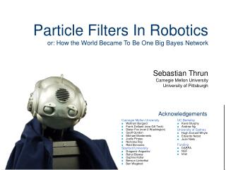 Particle Filters In Robotics or: How the World Became To Be One Big Bayes Network