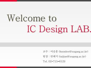 Welcome to  IC Design LAB.