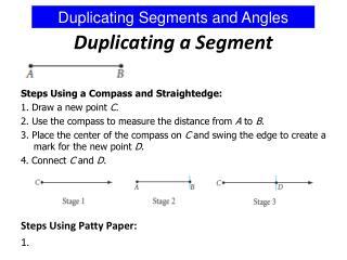 Duplicating a Segment