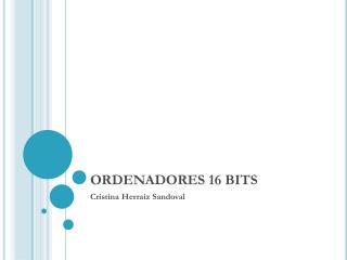 ORDENADORES  16  BITS