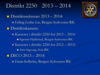 Distrikt 2250   2013 – 2014