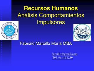 Recursos Humanos Análisis Comportamientos Impulsores