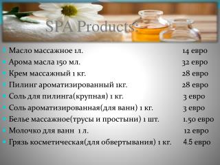 SPA Products: