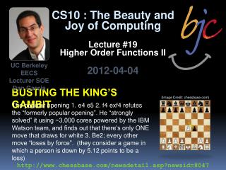 Busting the king's gambit
